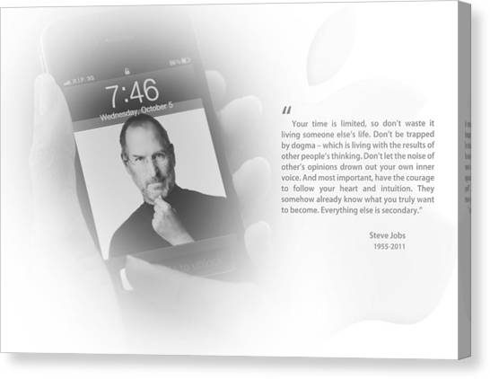 Steve Jobs 2 Canvas Print