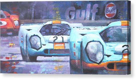 Legend Canvas Print - Steve Mcqueen Le Mans Porsche 917 01 by Yuriy Shevchuk