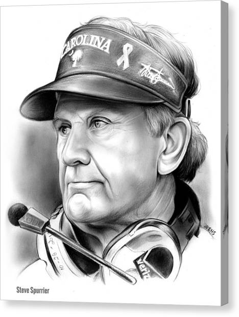 South Carolina Canvas Print - Steve Spurrier by Greg Joens