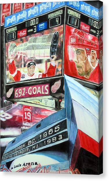 Steve Yzerman Canvas Print - Steve Yzerman- Detroit Red Wings by Chris Ripley