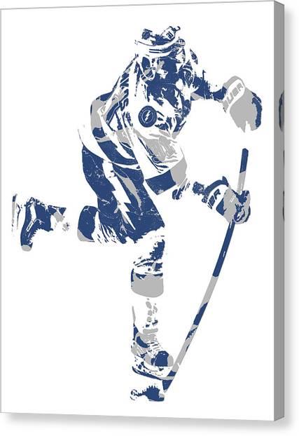 Tampa Bay Lightning Canvas Print - Steven Stamkos Tampa Bay Lightning Pixel Art 1 by Joe Hamilton