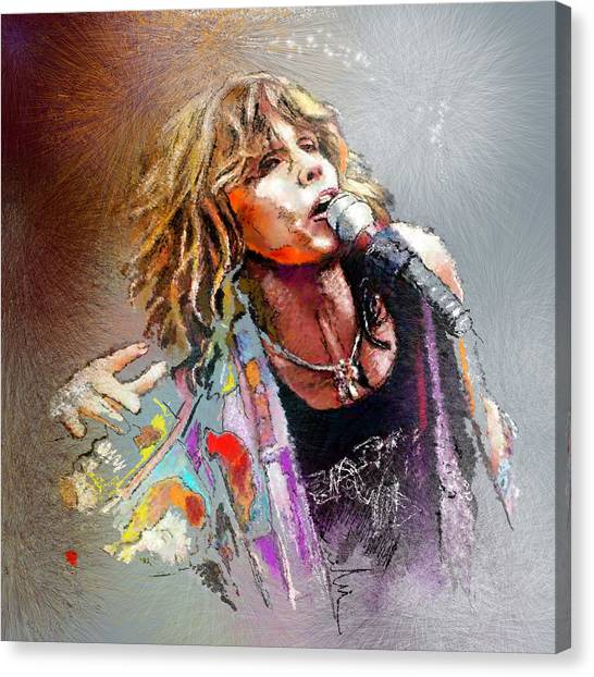 Aerosmith Canvas Print - Steven Tyler 02  Aerosmith by Miki De Goodaboom