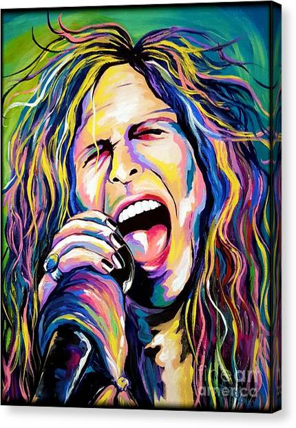 Steven Tyler Canvas Print - Steven Tyler by Amy Belonio