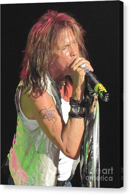 Aerosmith Canvas Print - Steven Tyler Concert Picture by Jeepee Aero