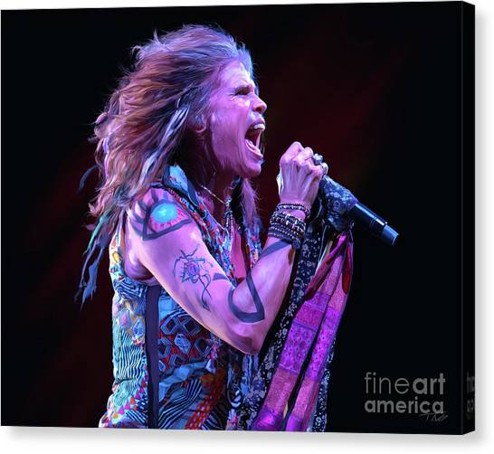 Aerosmith Canvas Print - Steven Tyler  by Paul Tagliamonte