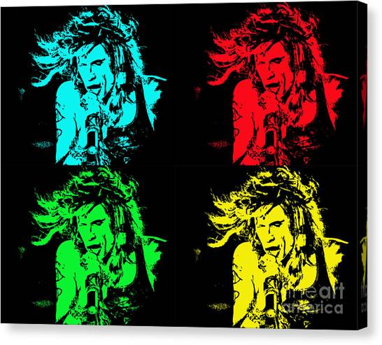 Steven Tyler Pop Art Canvas Print