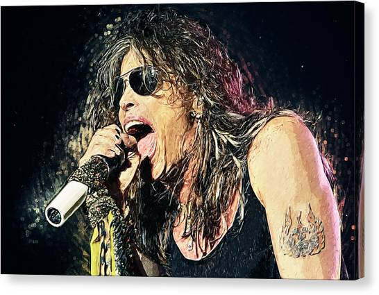 Aerosmith Canvas Print - Steven Tyler  by Zapista