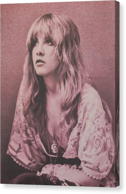 Music Canvas Print - Stevie Nicks  by Donna Wilson