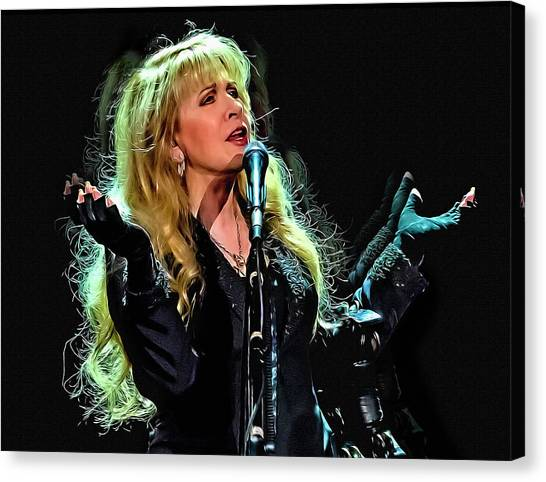 Stevie Nicks Canvas Print - Stevie Nicks, Fleetwood Mac by Mal Bray