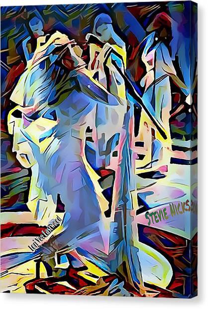 Stevie Nicks Canvas Print - Stevie Nicks - Wild Heart by Lori Vee Eastwood Designs for Hope