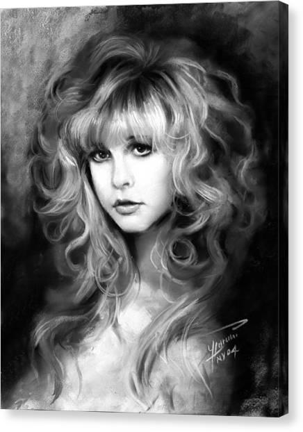 Rock Canvas Print - Stevie Nicks by Ylli Haruni