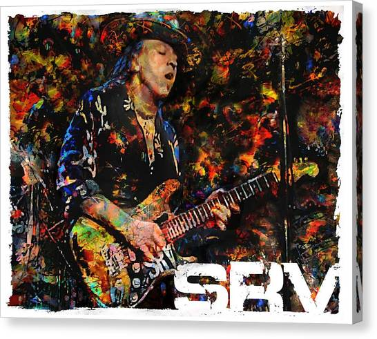 Stevie Ray Canvas Print