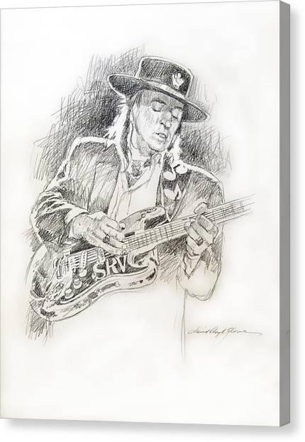 Stevie Ray Vaughan - Texas Twister Canvas Print by David Lloyd Glover