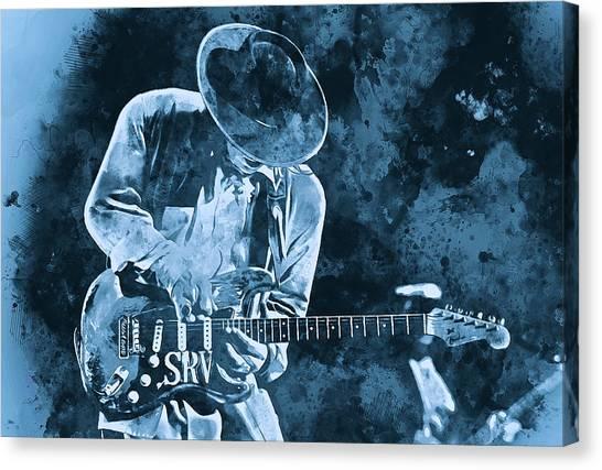 Stevie Ray Vaughan - 12 Canvas Print
