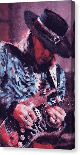 Stevie Ray Vaughan - 25 Canvas Print