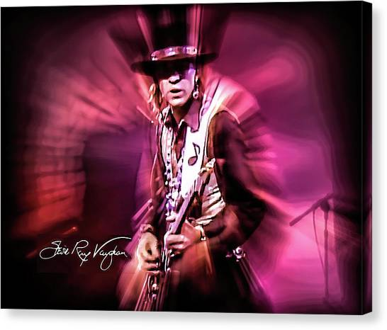 Stevie Ray Vaughan - Crossfire Canvas Print