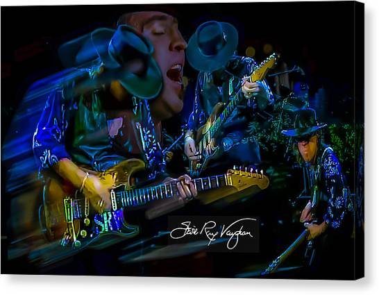 Stevie Ray Vaughan - Double Trouble Canvas Print