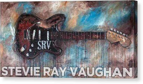 Stevie Ray Vaughan Double Trouble Canvas Print