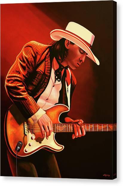 Steps Canvas Print - Stevie Ray Vaughan Painting by Paul Meijering