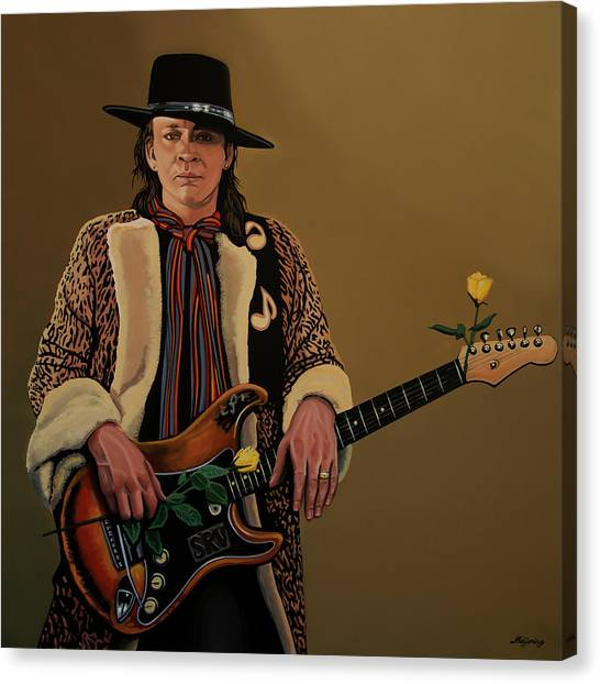 Doubles Canvas Print - Stevie Ray Vaughan 2 by Paul Meijering