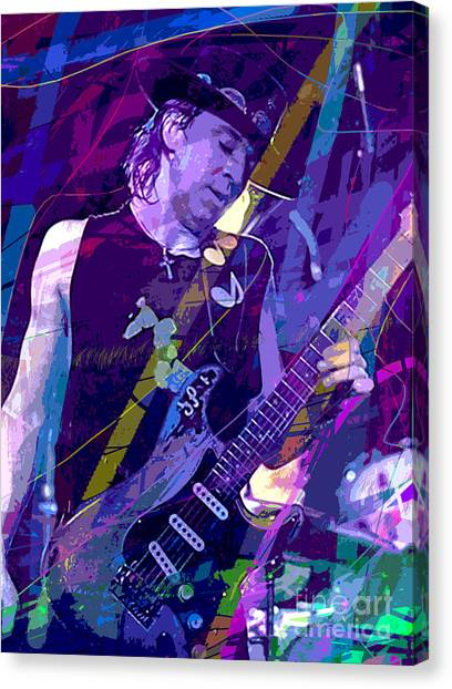 Recommended Canvas Print - Stevie Ray Vaughan Sustain by David Lloyd Glover