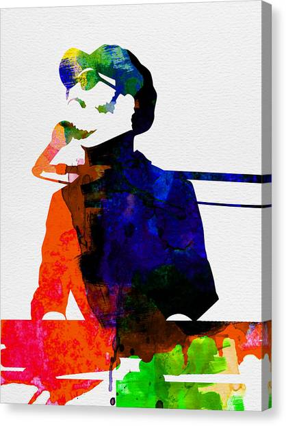 Rock Music Canvas Print - Stevie Watercolor by Naxart Studio
