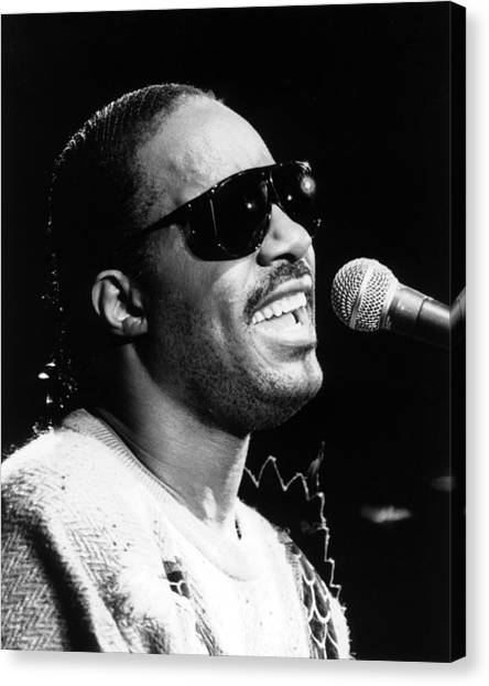 Stevie Wonder 1986 Canvas Print by Chris Walter