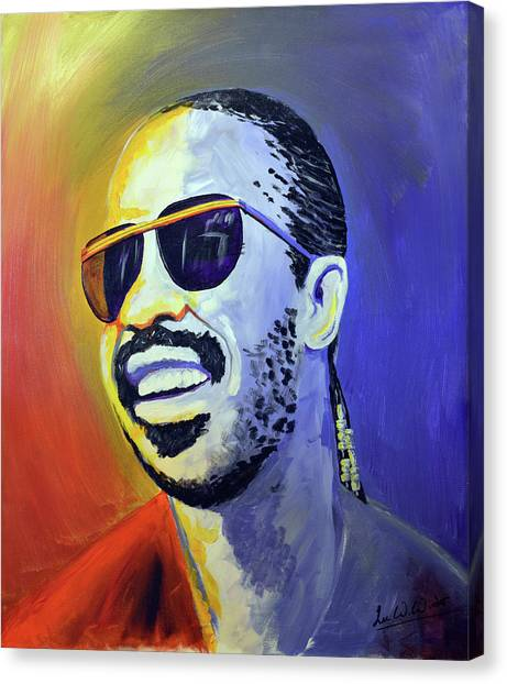 Canvas Print - Stevie Wonder by Lee Wolf Winter