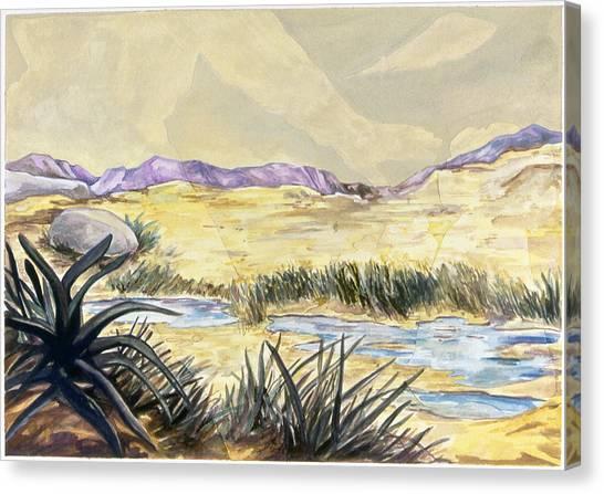 Sticker Landscape 3 Desert Canvas Print by Karl Frey