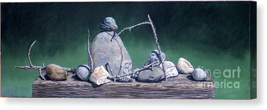 Sticks And Stones Canvas Print by David Francis