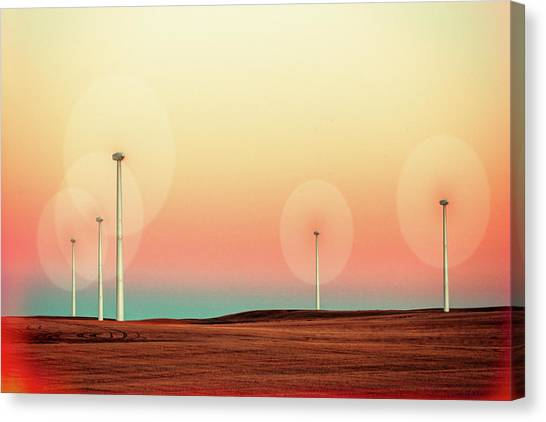 Wind Farms Canvas Print - Sticks by Todd Klassy