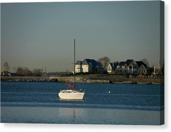 Still Boat Canvas Print