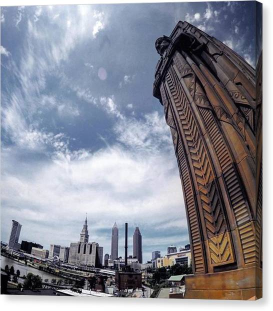 Art Deco Canvas Print - Towering Over #cle by Autumn Travels