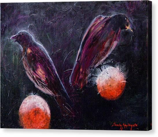 Still Is Sitting Canvas Print by Sandy Applegate
