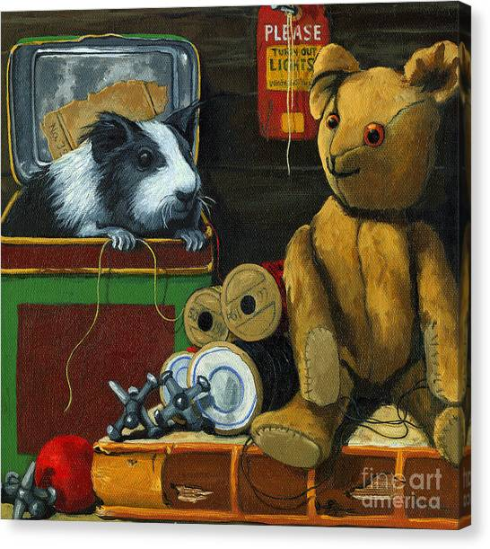 Still Life - Herman Finds A Friend Canvas Print