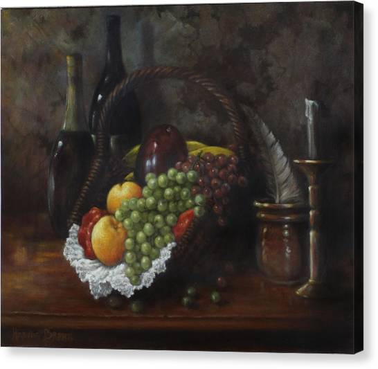 Fruit Baskets Canvas Print - Still Life 1 by Harvie Brown