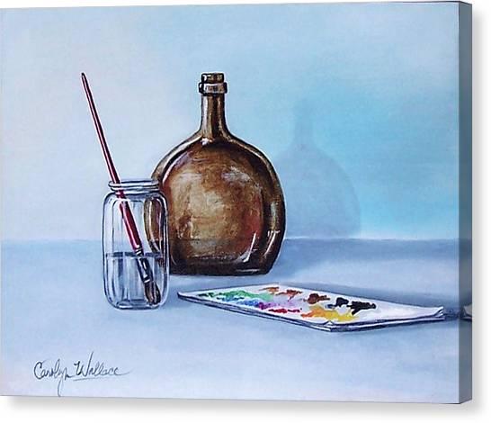 Still Life After Nc Wyeth 2 Canvas Print