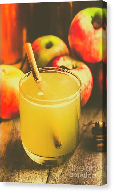 Juice Canvas Print - Still Life Apple Cider Beverage by Jorgo Photography - Wall Art Gallery