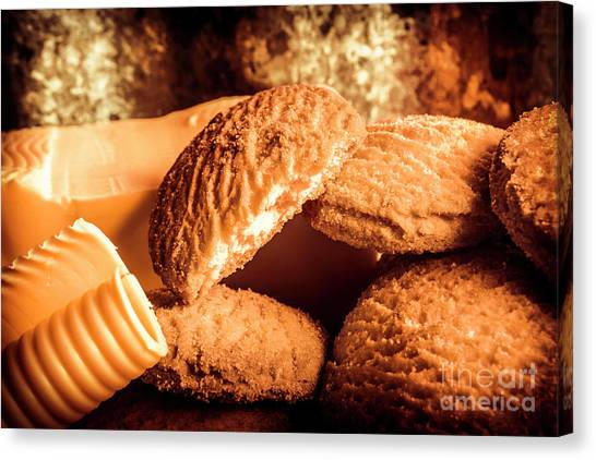 Biscuits Canvas Print - Still Life Bakery Art. Shortbread Cookies by Jorgo Photography - Wall Art Gallery