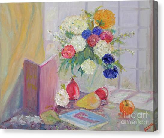 Still Life By Window Canvas Print