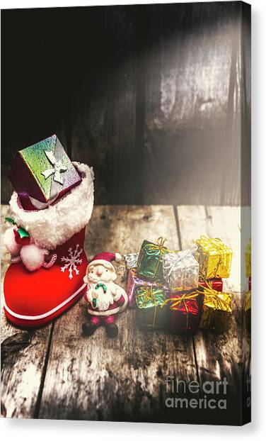 Present Canvas Print - Still Life Christmas Scene by Jorgo Photography - Wall Art Gallery