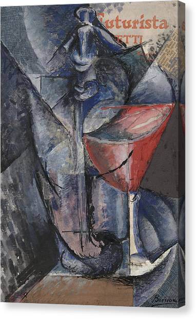 Pablo Picasso Canvas Print - Still Life  Glass And Siphon by Umberto Boccioni