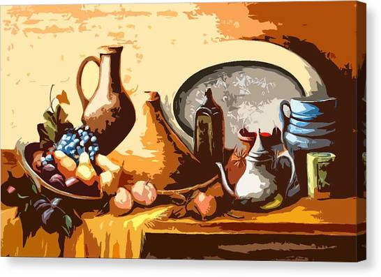 Still Life In Morocco Canvas Print