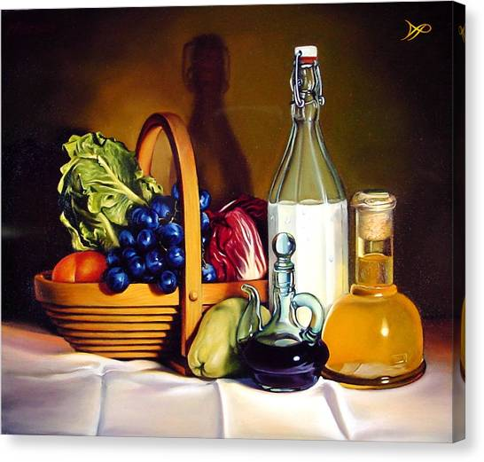 Lettuce Canvas Print - Still Life In Oil by Patrick Anthony Pierson