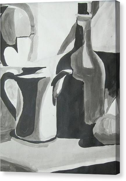 Still Life Ink Washes Canvas Print