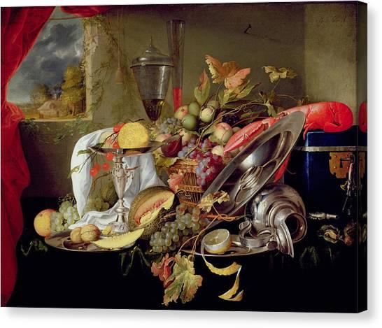 Peel Canvas Print - Still Life by Jan Davidsz Heem