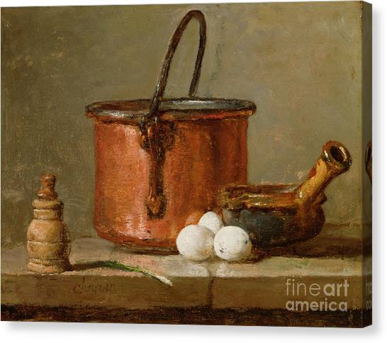 Still Life Canvas Print - Still Life by Jean-Baptiste Simeon Chardin
