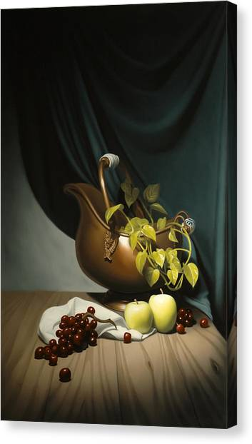 Still Life Painting Zanndam Evening Canvas Print by Eric Bossik