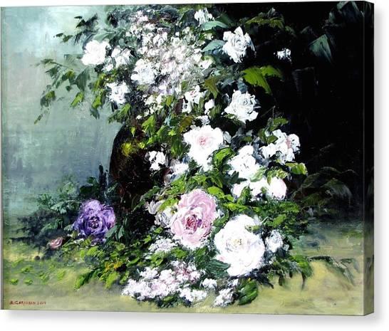 Still Life W/flowers Canvas Print