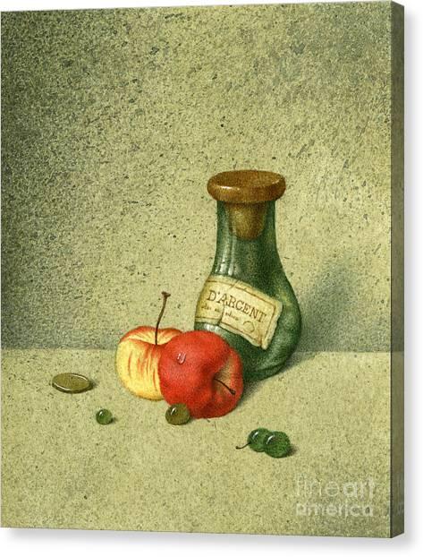 Still Life With A Small Jar Canvas Print